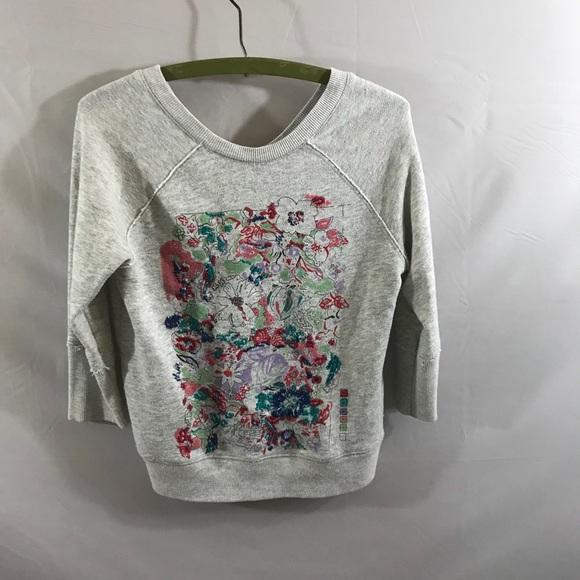 Anthropologie Tops - Anthropologie Postmark Embroidered sweatshirt
